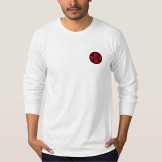 スキー製材所のスキーパトロールの長袖T Tシャツ