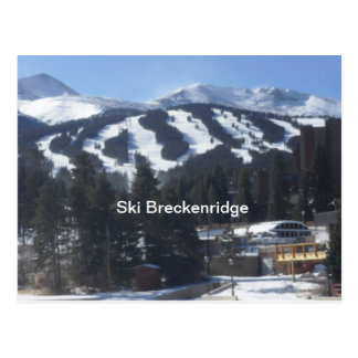 スキーBreckenrigdeの郵便はがき ポストカード