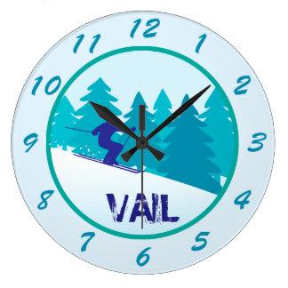 スキーVail ラージ壁時計