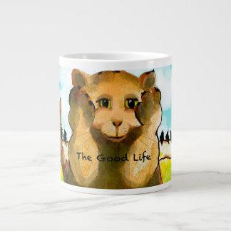 スクエアStreater著よい人生のオリジナルの芸術 ジャンボコーヒーマグカップ