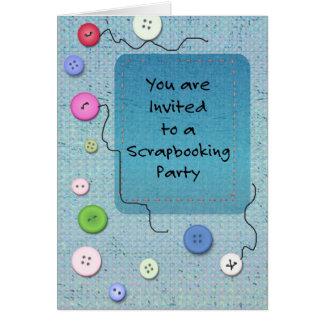 スクラップブック作りのパーティーに招待されます カード