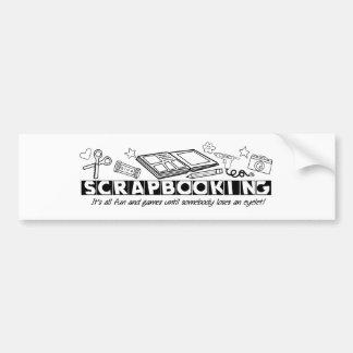 スクラップブック作りの黒い文字 バンパーステッカー