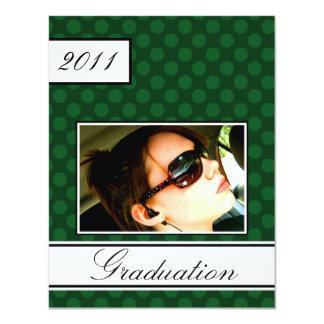 スクリーン点の緑のオープンハウスのパーティーの卒業 カード