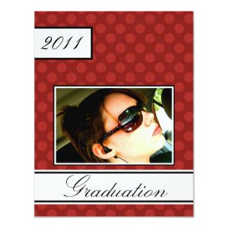 スクリーン点の赤のオープンハウスのパーティーの卒業 カード