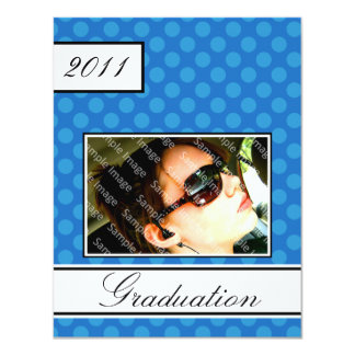 スクリーン点の青のオープンハウスのパーティーの卒業 カード