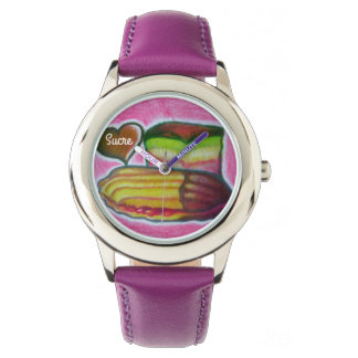 スクレのイタリアンなクッキーおよび虹のケーキの腕時計 腕時計