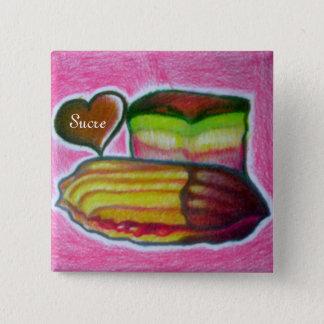 スクレのイタリアンなクッキーのウェイターのきらきら光るなボタン 缶バッジ