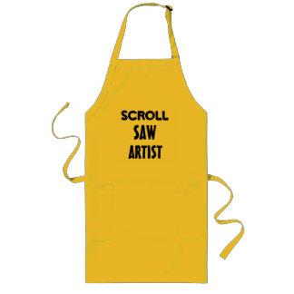 スクロールは芸術家-エプロン--に会いました ロングエプロン
