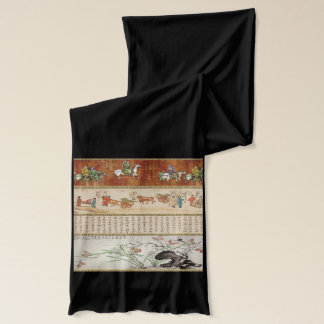 スクロールジャージーのアジアスカーフ スカーフ