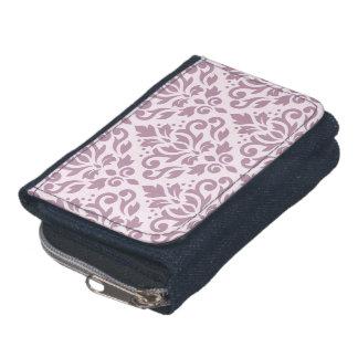 スクロールダマスク織ピンクの大きいパターン藤色