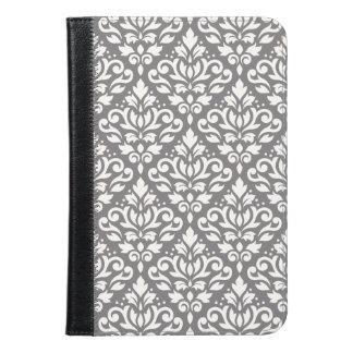 スクロールダマスク織灰色の大きいパターンクリーム iPad MINIケース