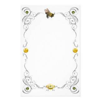 スクロール蜂蜜の蜂 便箋