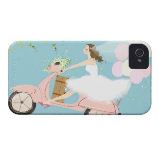 スクーターに乗っている花嫁 Case-Mate iPhone 4 ケース