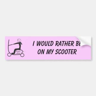 スクーターのひよこ、私は私のスクーターにむしろあります バンパーステッカー