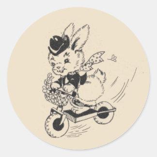 スクーターのバニー ラウンドシール