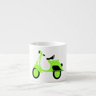 スクーターの緑 エスプレッソカップ