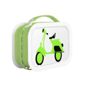 スクーターの緑 ランチボックス
