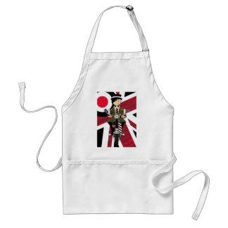 スクーターの英国国旗のモダンな女の子 スタンダードエプロン