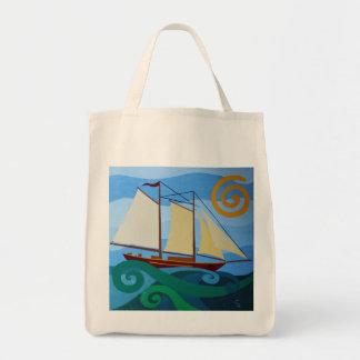 スクーナー船ののらくら者のバッグ トートバッグ