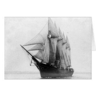 スクーナー船の知事エームズ カード