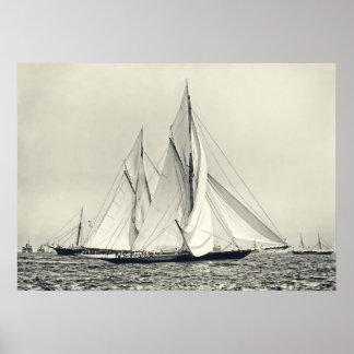 スクーナー船ローザDorathea ポスター