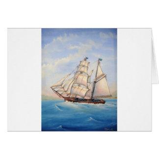 スクーナー船 カード