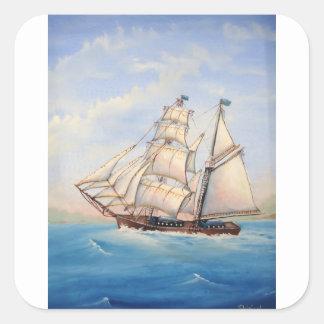 スクーナー船 スクエアシール