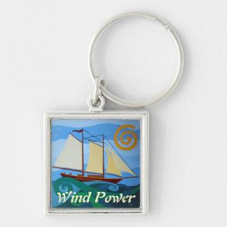 スクーナー船、風力 キーホルダー