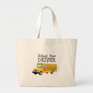 スクールバスの運転者 ラージトートバッグ