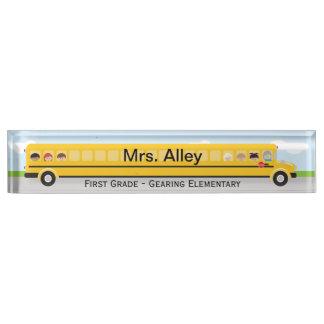 スクールバス|の先生の名札 デスクネームプレート