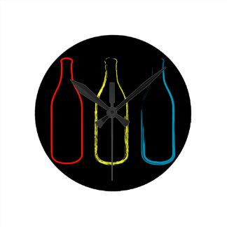 スケッチするボトル ラウンド壁時計