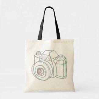 スケッチのカメラのトートバック トートバッグ