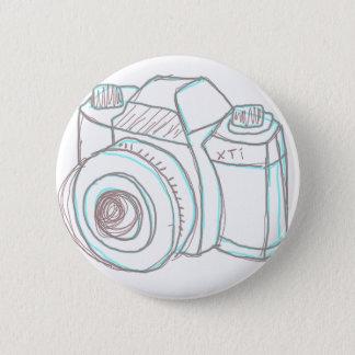 スケッチのカメラ 5.7CM 丸型バッジ