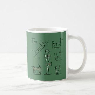 スケッチのベストの獣医 コーヒーマグカップ
