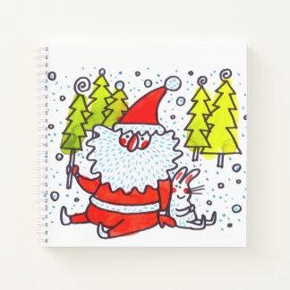 スケッチブックの芸術の漫画のクリスマス動物のノート ノートブック