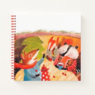 スケッチブックの芸術の漫画動物のノート ノートブック