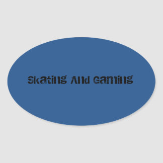 スケートで滑るおよび賭博のヘルメットのステッカー! 楕円形シール