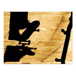 スケートで滑ること はがき
