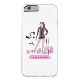 スケートで滑るのバッグを持つスポーティなフィギュアスケート選手 BARELY THERE iPhone 6 ケース