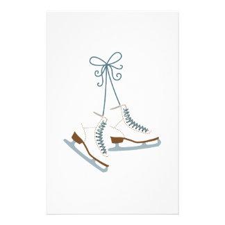 スケートで滑るのブーツ 便箋