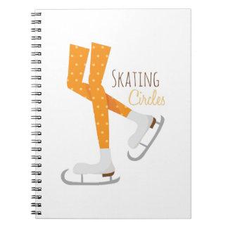 スケートで滑るの円 ノートブック