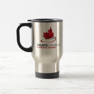 スケートのカナダ北のオンタリオのロゴ トラベルマグ