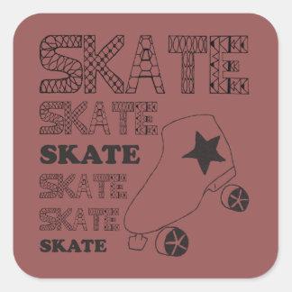 スケートのステッカー! スクエアシール