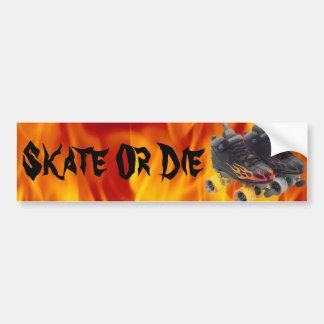 スケートはまたはバンパーステッカー(rollerskates)死にます バンパーステッカー