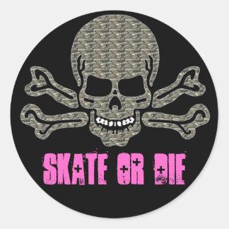 スケートはまたは粗かったスカル石死にます ラウンドシール