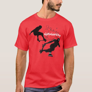 スケートは跳びます Tシャツ