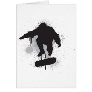 スケートボーダーのグランジなkickflip グリーティングカード