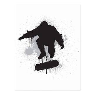 スケートボーダーのグランジなkickflip ポストカード