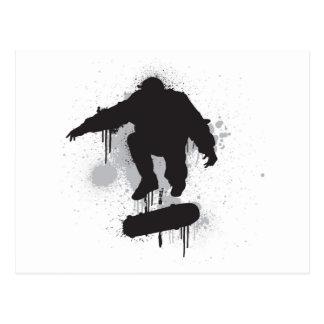 スケートボーダーのグランジなkickflip 葉書き