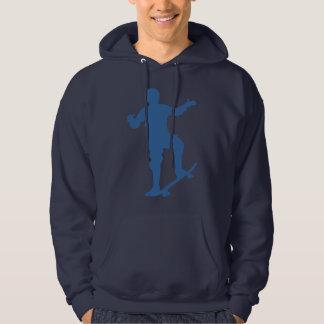 スケートボーダーのシルエットのスエットシャツ パーカ
